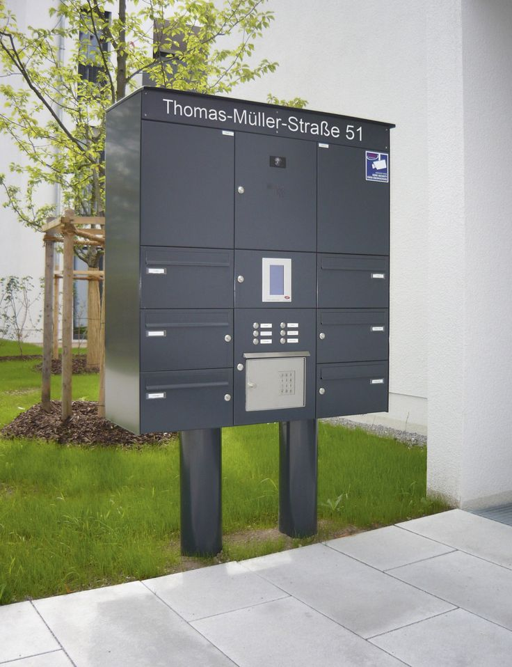 Freistehender Briefkasten mit Paketfach. Individuell günstig für ihren Bedarf gefertigt.