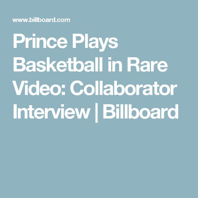 Prince Plays Basketball in Rare Video: Collaborator Interview   Billboard
