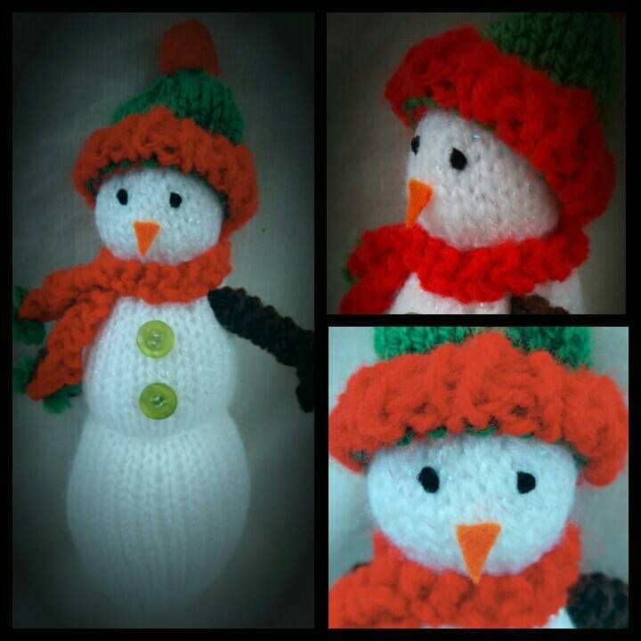 SNOWMAN KNITTING pattern, easy knit, CHRISTMAS, gift idea, Xmas present, soft toy, doll, project, autumn by KwerkyKnits on Etsy