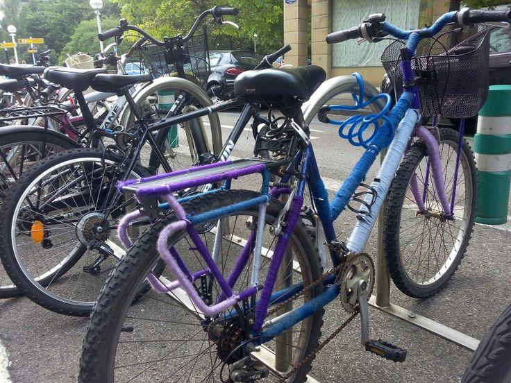 Bike with knitt