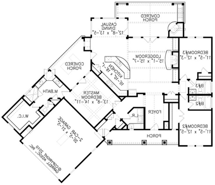 Floor Plan Of A Cool House