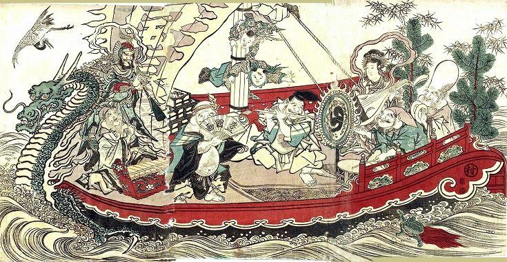 七福神・宝船 - 豆本三昧我褸芥(がるぁくた)ノート 及び 美人画あれこれ