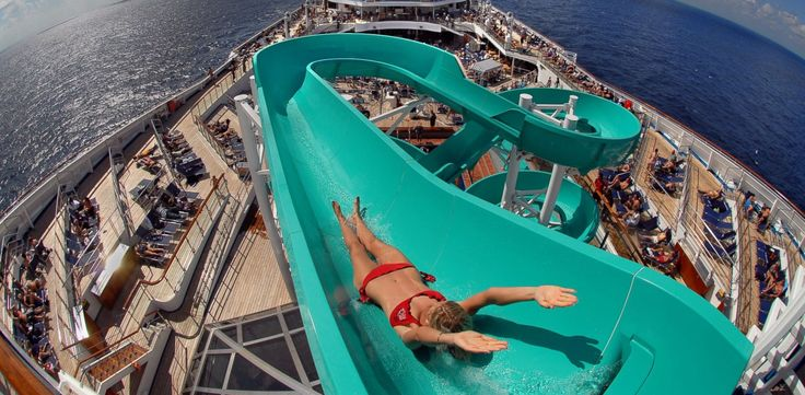 PHOTO: The Carnival Freedom was awarded the best ship for shore excursions in the large-ship category in the 2014 Cruisers Choice Awards by CruiseCritic.com. Pictured here, the ships slide.