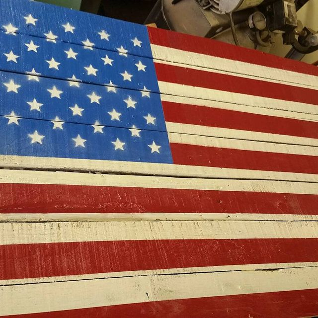 Stenciled American flag by John /createcuts stencils