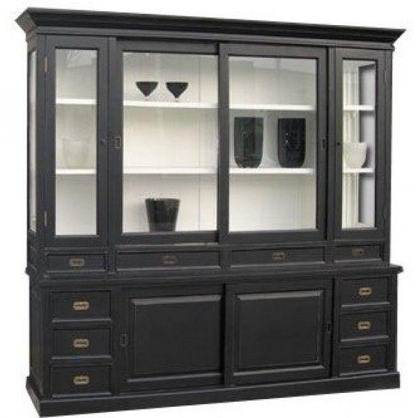 17 beste afbeeldingen over buffetkast op pinterest lichtpaars kasten en huiskamers - Houtkleur zwart ...