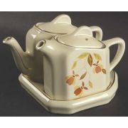 Hall Autumn Leaf Tea for Two Set with Tray http://www.pinterest.com/woodnickols/jewel-tea-~-autumn-leaf-dishes/