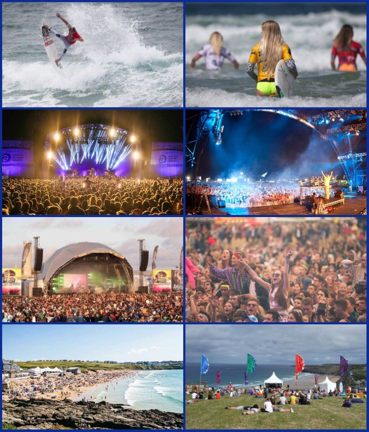 Boardmasters Music and Surf Festival, Newquay Cornwall. Boardmasters is held at Fistral Beach and Watergate Bay Newquay – known as Cornwall's Festival and celebrates surf culture bringing you World Tour Surfing, skate and BMX. The Music festival takes place overlooking miles of glorious North Cornwall coastline at Watergate Bay, with a whole host of huge artists.