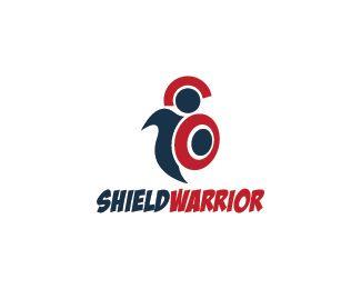Shield Warrior Logo design - Logo design of a person wearing armor and a shield.  Price $250.00