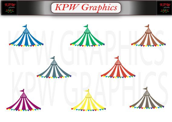 Circus Carnival Tent Canopy Set 2 various colours by KPWgraphics