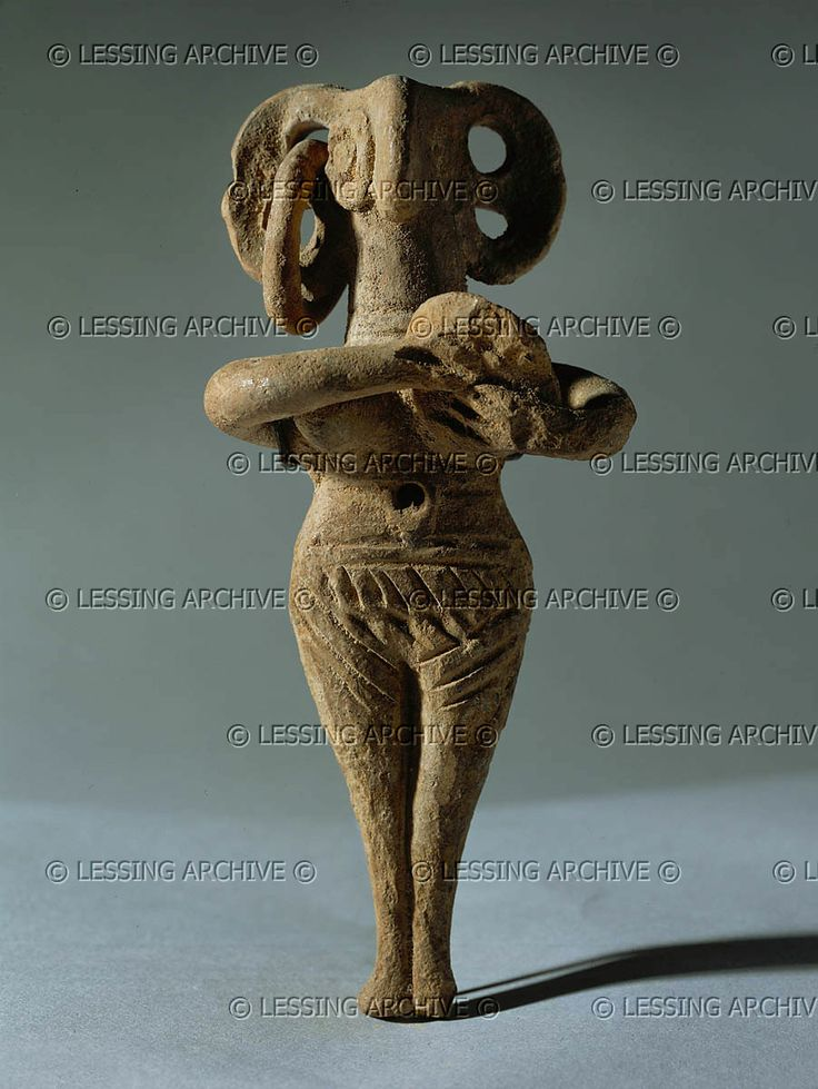 ANTIQUITIES ORIENTAL: CYPRIOT IDOL 2ND-1ST MILL.BCE    Nude female idol holding a tambourine. Late Bronze II, 1450-1200 BCE Terracotta, H: 12 cm AO 2407  Louvre, Departement des Antiquites Orientales, Paris, France