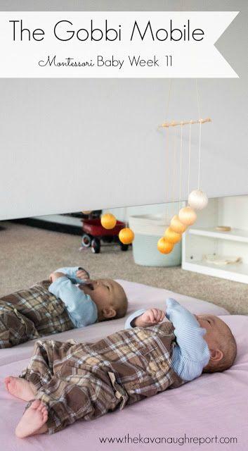 The Gobbi Mobile -- Montessori Baby Week 11! TA look at this quintessential Montessori infant material.