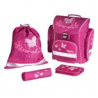 Ergonomic school bag, HERLITZ Midi Plus Rose Butterfly