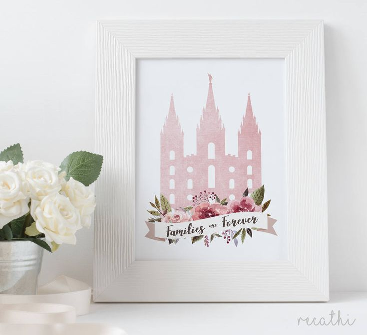 LDS Temple, Families are Forever, Family Sign, LDS Home Decor, Instant Download, Digital Printable, Home Decor Print, LDS Gift by Recathi on Etsy