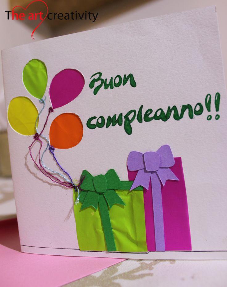 Biglietto di buon compleanno. #happybirthday #gift #paper #compleanno #auguri…
