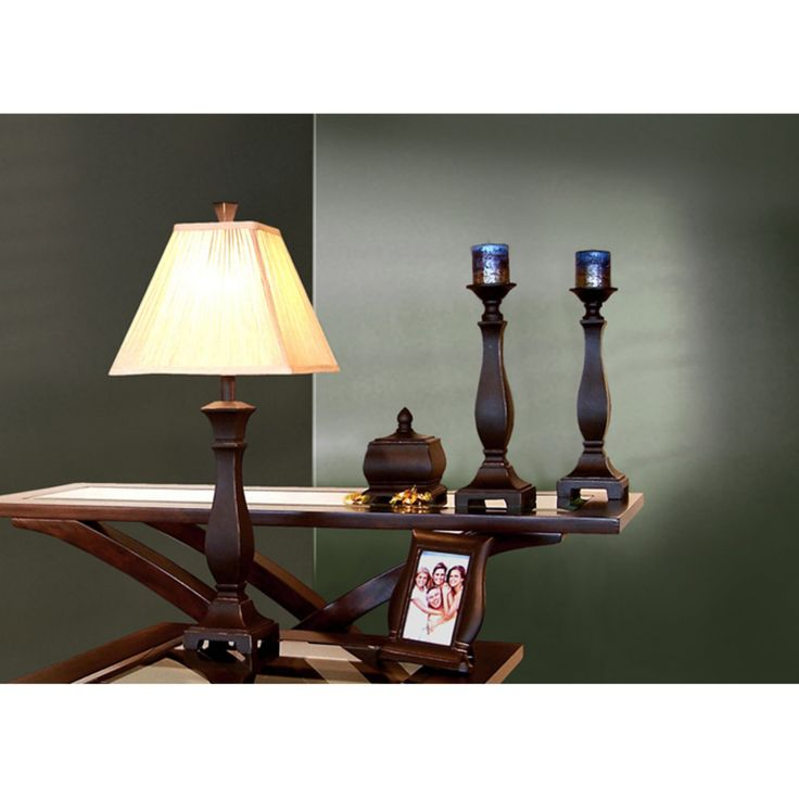 Monarch Specialties Transitional Table Lamp 5 Piece Decor Set - I 6791