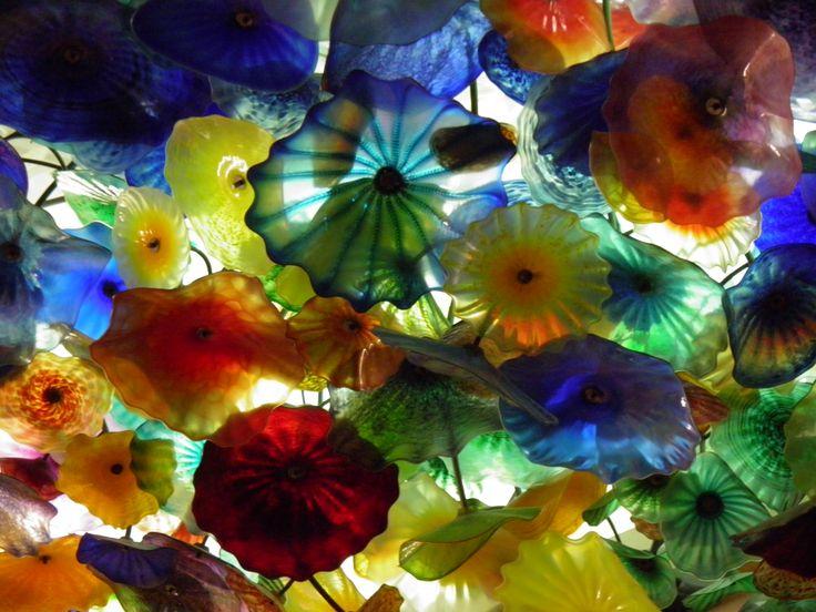 Kleurig geblazen glas, Las Vegas Thema: vrije keus