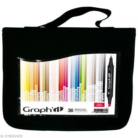 Assortiment Feutre à alcool Graph'it Basic colors x 36