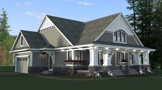 House Plan 42618, Order Code C46578 | Bungalow Cottage Craftsman Traditional Plan with 1866 Sq. Ft., 3 Bedrooms, 2 Bathr