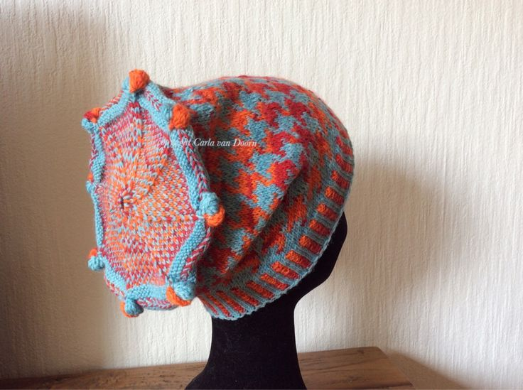 Fair Isle Knitted hat by Carla van Doorn
