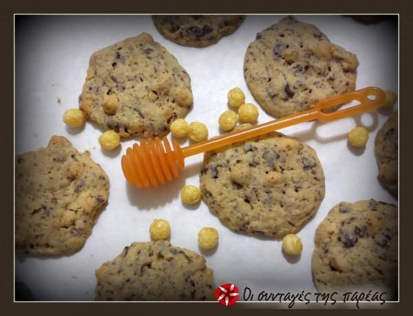 Μπισκότα με κομμάτια σοκολάτας και μπάλες μελιού #sintagespareas