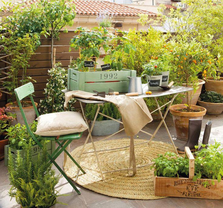 Para tener un huerto no necesitas un gran espacio - Tiestos de madera ...