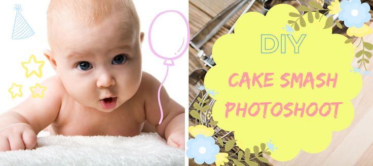 DIY 1st birthday Cake Smash Photoshoot