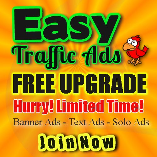 Need traffic to your website or product? Join EasyTrafficAds.com and receive a FREE UPGRADED membership!