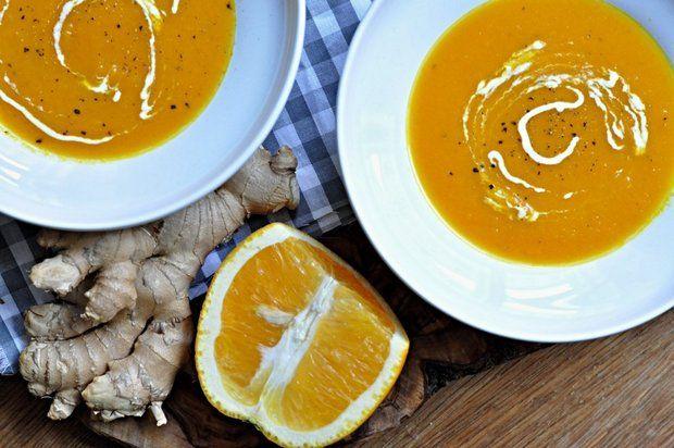 Mrkvová polévka se zázvorem a pomerančem