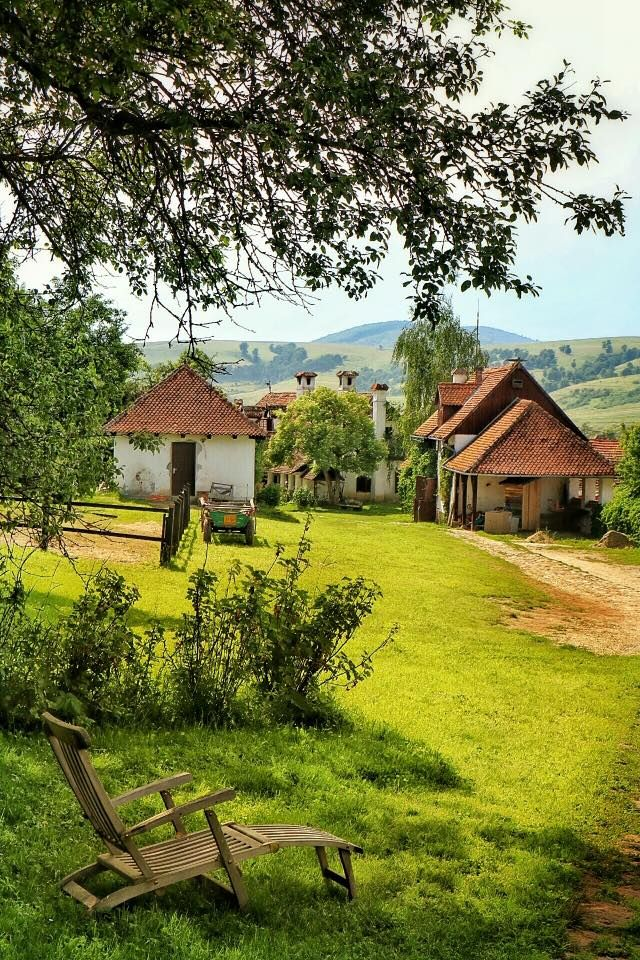 Count Kalnoky's Guesthouses, Transylvania, Romania. View from the Blue House http://www.organicholidays.com/at/2501.htm