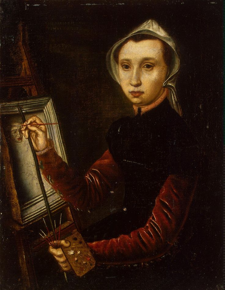 Self-Portrait, Caterina van Hemessen. Flemish Northern Renaissance Painter (1527 - 1587)