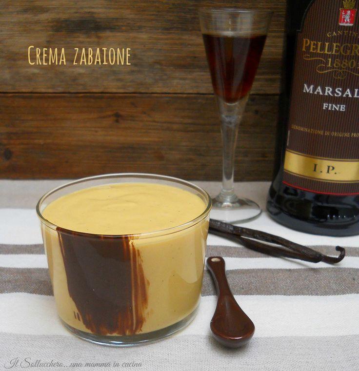 La crema zabaione è una crema vellutata e deliziosa a base di uova e marsala, stupenda da gustare da sola, ottima come farcitura per torte e bignè.