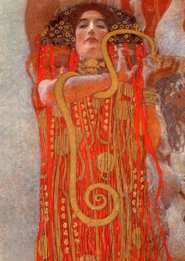 Gustav Klimt, Medicina, particolare di Igea, 1900 (opera distrutta nel 1945)