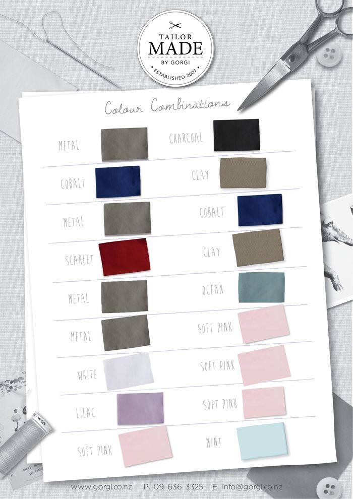 Gorgi Tailor Made Colour Combinations