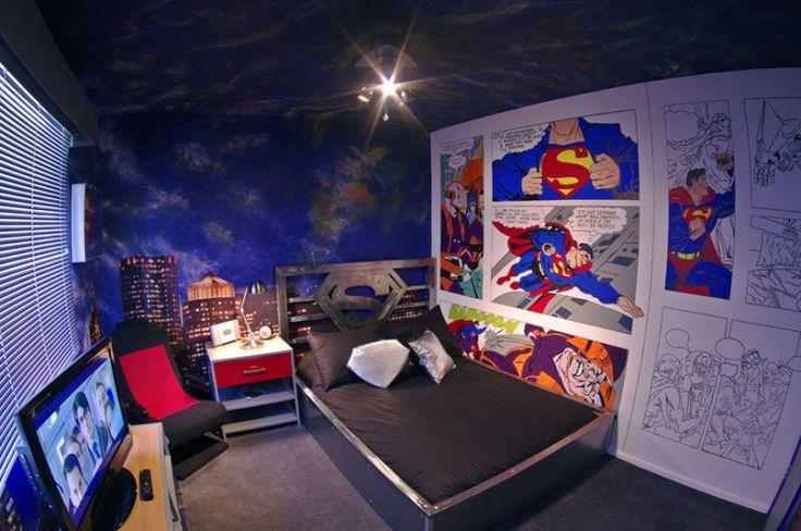 superman room teen boy
