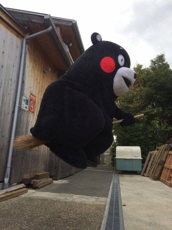kumamonfan: kumamon's delivery service. - broomstick delivery