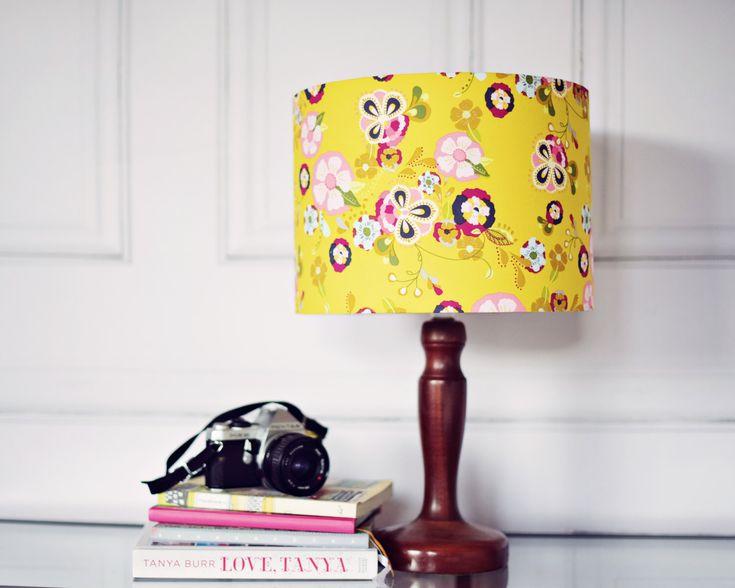 Yellow lamp shade, yellow bedroom décor, light shades, floral lamp shade, living room décor, Drum lamp shade, floor lamp, yellow living room by ShadowbrightLamps on Etsy https://www.etsy.com/uk/listing/277895180/yellow-lamp-shade-yellow-bedroom-decor