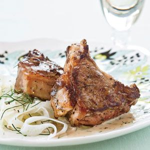 Kristin Donnelly loves making fennel salads as a weeknight side dish. Instead of throwing out the tough stalks of the fennel, she uses them to infuse a white-wine marinade for lamb chops.