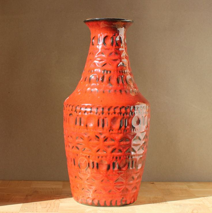 BAY Keramik Vase 50er 60er sehr schön Nr 606-30 Bitossi style fine ceramics | eBay