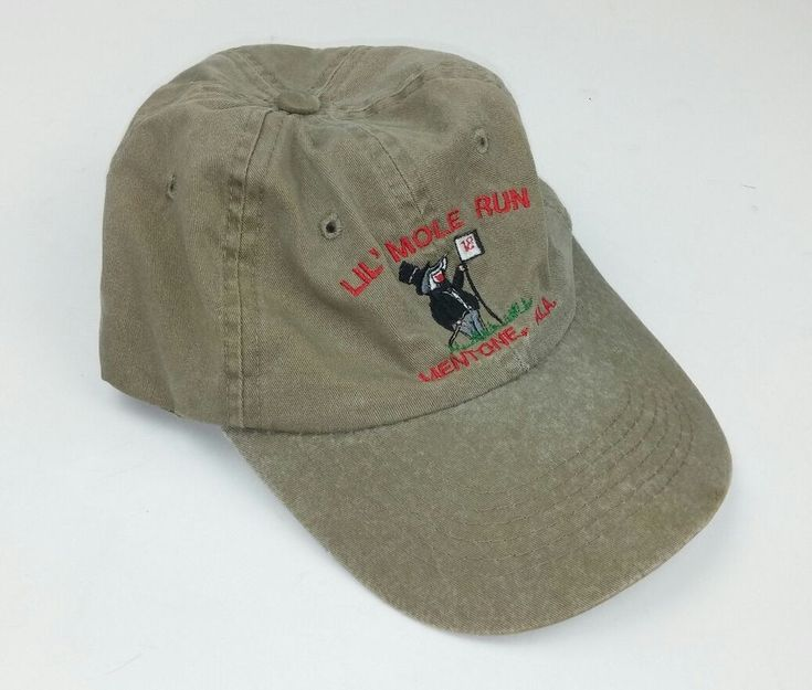 Lil' Mole Run Mentone Alabama Hat Adjustable Khaki Embroidered Sportsman Cotton #Sportsman #BaseballCap