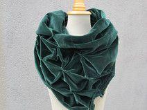 origami schal aus samt -100% baumwolle - dreieckig