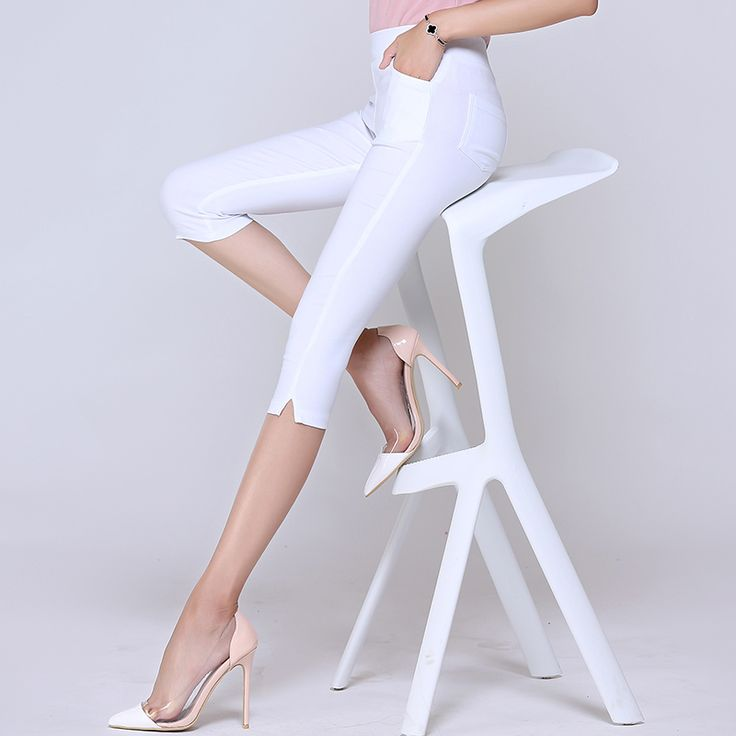 2016 Summer Women's Elastic High Waist Capris Pants Candy Color Casual Skinny Pencil Pants Comfortable Women Pants Plus size-in Pants & Capris from Women's Clothing & Accessories on Aliexpress.com | Alibaba Group