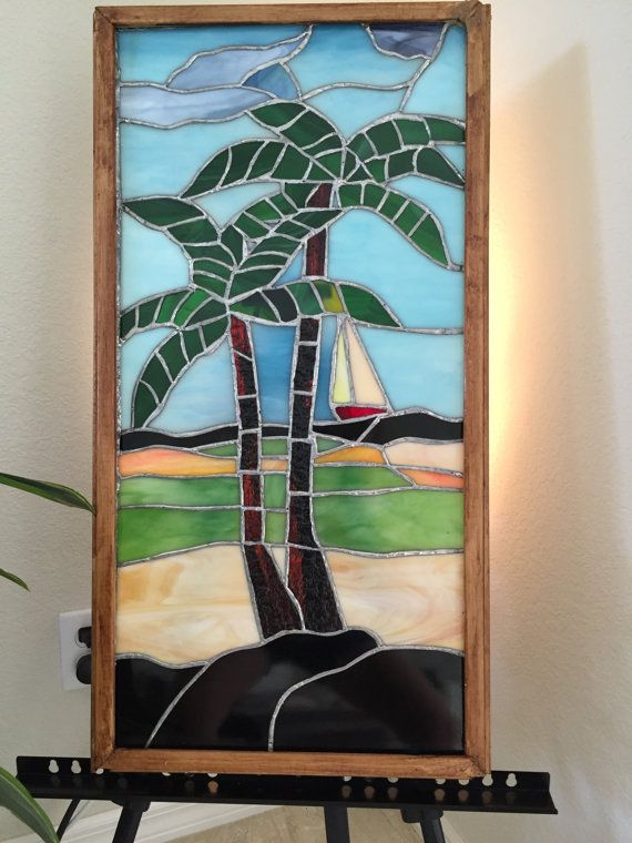 Florida Palm Trees by StaindGlassDiversion on Etsy