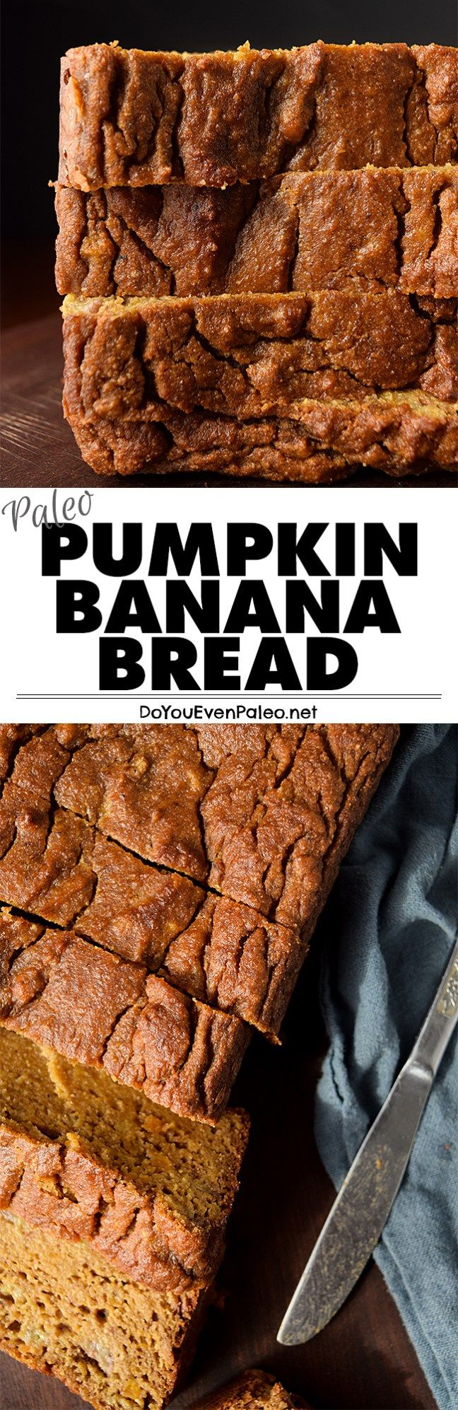 Paleo Pumpkin Banana Bread recipe - a combination of two popular quick breads! This healthy recipe is gluten free, paleo, clean eating, and vegetarian. Perfect for breakfast or a snack! | DoYouEvenPaleo.net #paleo #glutenfree #doyouevenpaleo