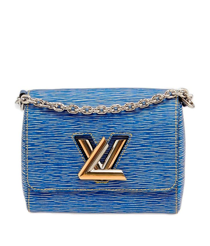 Louis Vuitton Twist MM Blue Epi Leather Shoulder Bag