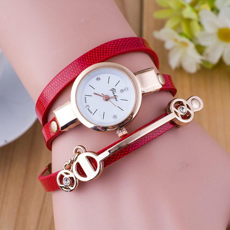 Faux Leather Band Quartz Wrist Watch //Price: $5.95 & FREE Shipping //     #stylish #cute