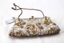 Marks & Spencers Per Una beaded clutch bag purse embellished sequins with tag
