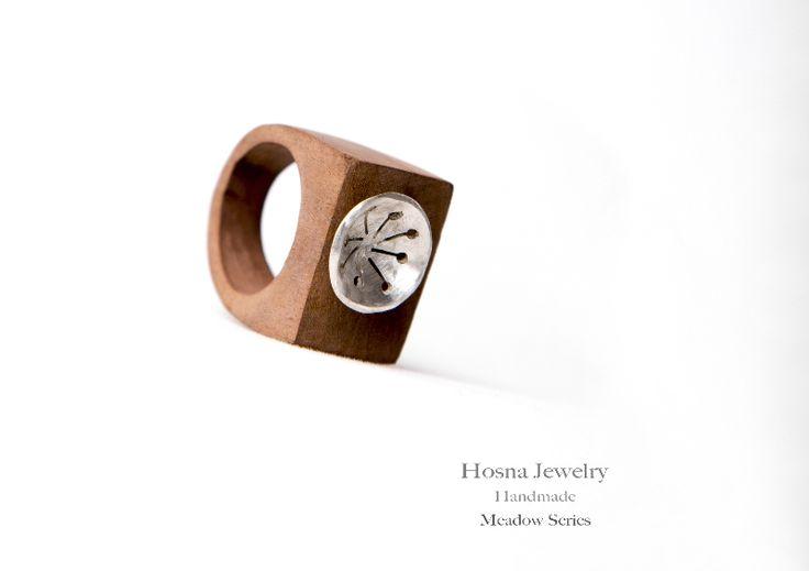Ring, Silver, jujube wood