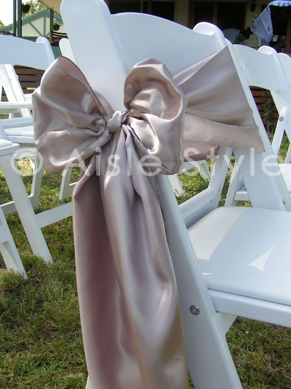 white folding chair for a wedding aisle style outdoor wedding hire