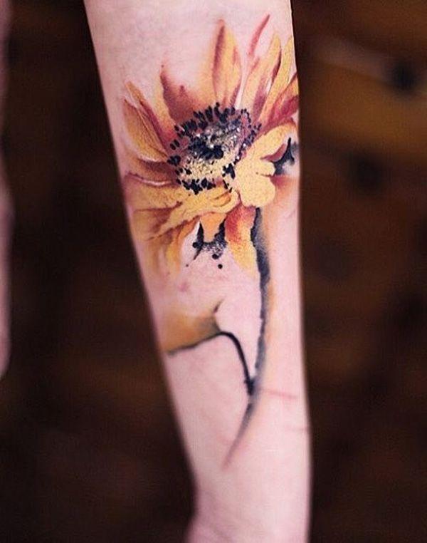 sunflower-tattoo-61 - 60+ Sunflower Tattoo Ideas  <3 <3