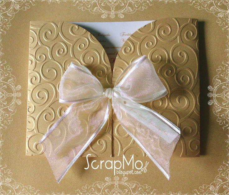 Scrapandome con los recuerdos boda dorada invitaciones - Recuerdos de bodas para invitados ...